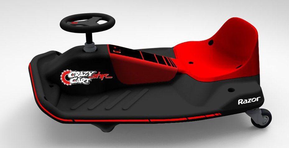 近日原廠推出2016年新款式─Crazy Cart Shift,工程師針對方向盤轉向與動力部分稍作調整。 摘自Razor.com