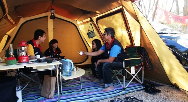露營示意圖。 聯合報系資料照