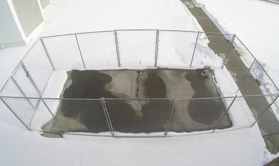 導電混凝土展現絕佳的化冰雪功能。 摘自Chris Tuan/UNL