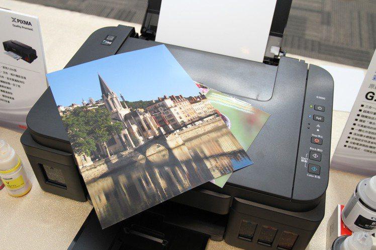 列印品質方面,PIXMA G系列表現相當亮眼。 彭子豪/攝影