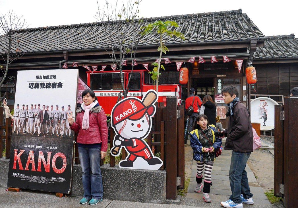 檜意森活村人氣最旺的「嘉義KANO故事館」,是電影「Kano」裡近藤教練的宿舍。 記者陳威任/攝影