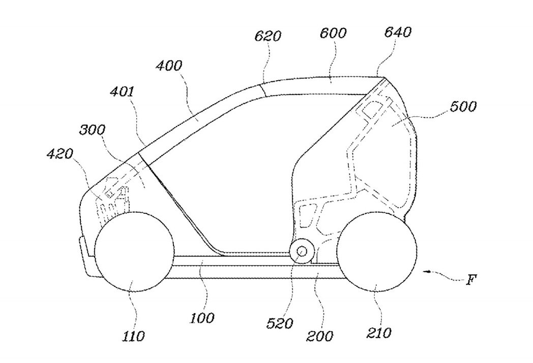 Hyundai這款都會摺疊微型車專利,可於擁擠城市中增添靈活性,更可減少停車空間。 摘自Hyundai.com