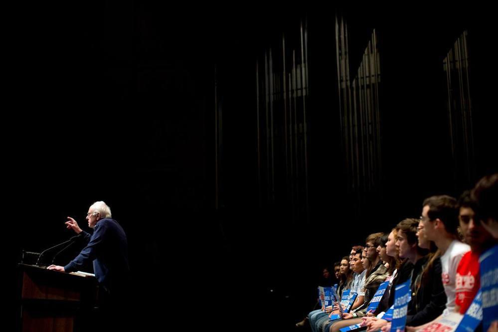 美國民主黨總統參選人桑德斯的造勢活動。 (圖/美聯社)