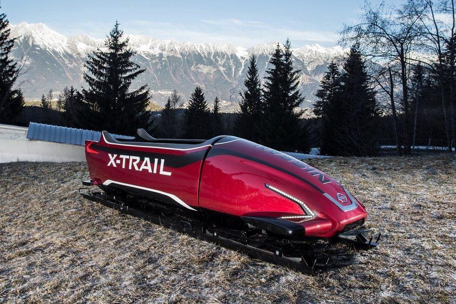 日產採用了X-Trail的設計與技術,打造了這輛擁有精美外型的雪橇。 摘自Carscoops.com