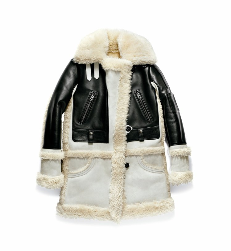 COACH翻毛羊皮外套,售價99,000元。圖/COACH提供