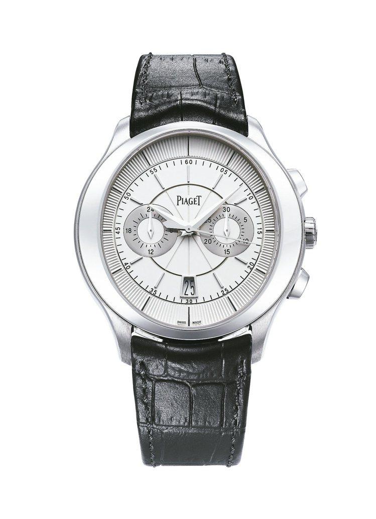 伯爵Gouverneur雙眼計時腕表,882P超薄自動上鍊計時機芯,124萬元。...