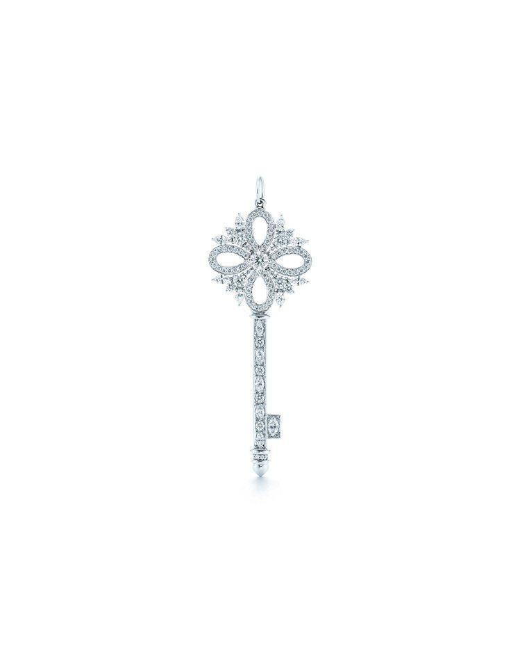 Tiffany Keys Victoria鑽石鉑金鍊墜,38萬2,000元。 圖...