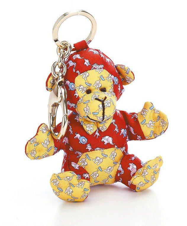 Ferragamo限定款頑猴絲質鑰匙圈,7,200元。 圖/Ferragamo提...