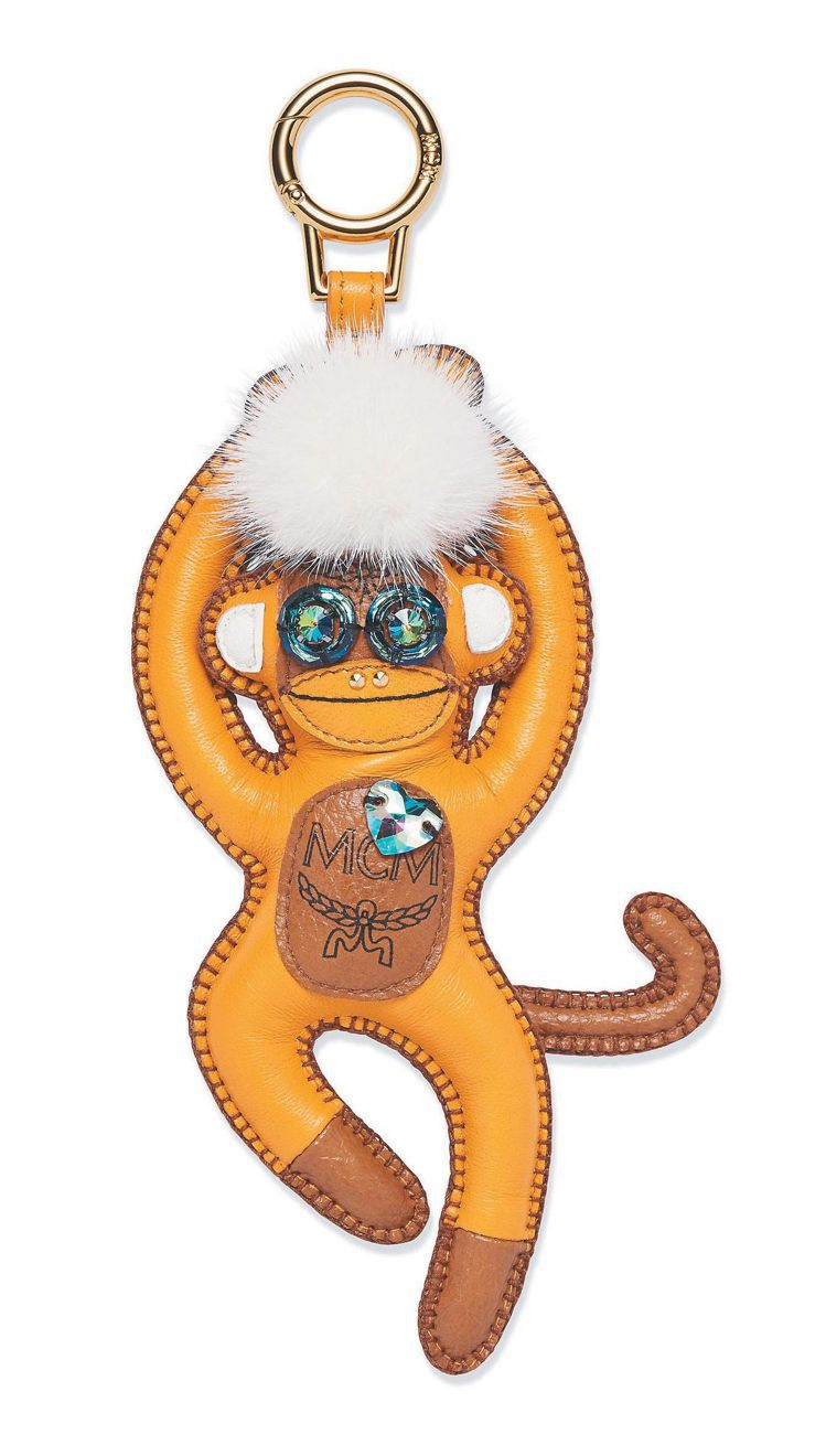 MCM 猴子造型吊飾,9,000元。圖/MCM提供