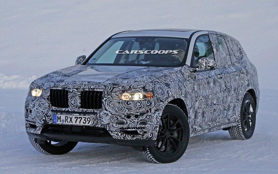 新一代BMW X3在雪地中被捕捉。 摘自carscoops.com