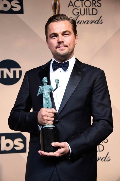 李奧納多狄卡皮歐拿下演員工會獎最佳男主角。圖/法新社