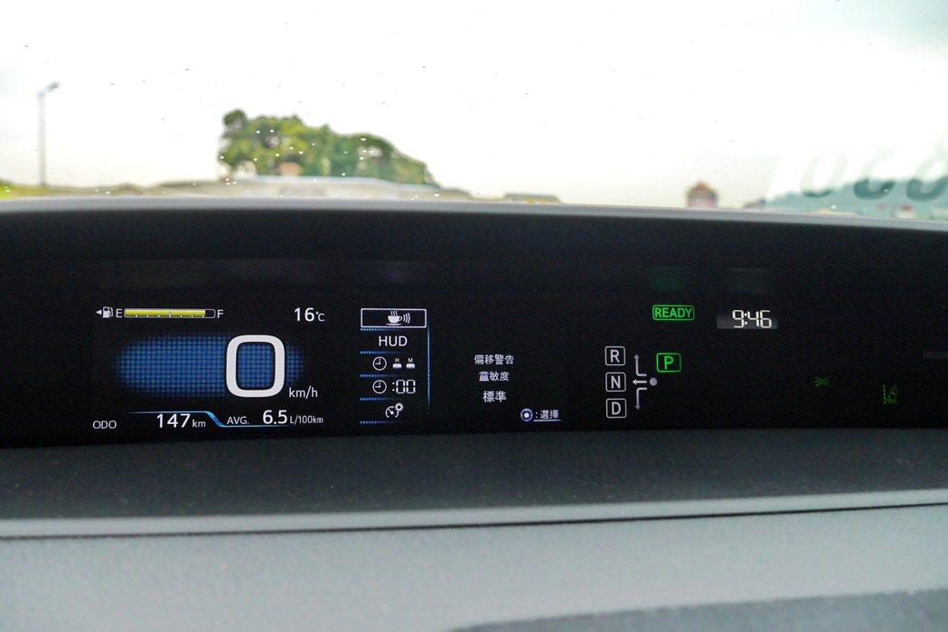 中置數位儀表提供完整行車資訊。 記者陳威任/攝影