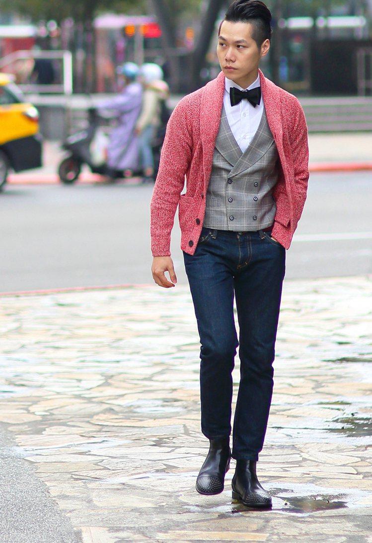 時尚作家Jimmy建議過年期間可以利用不同風格去混搭正裝。圖/TSFM提供
