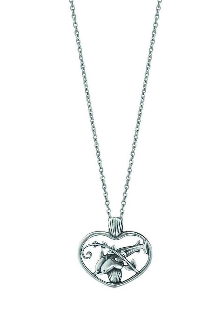2016西洋情人節全球限定版海豚之心純銀項鍊,建議售價7,000元。圖/喬治傑生...