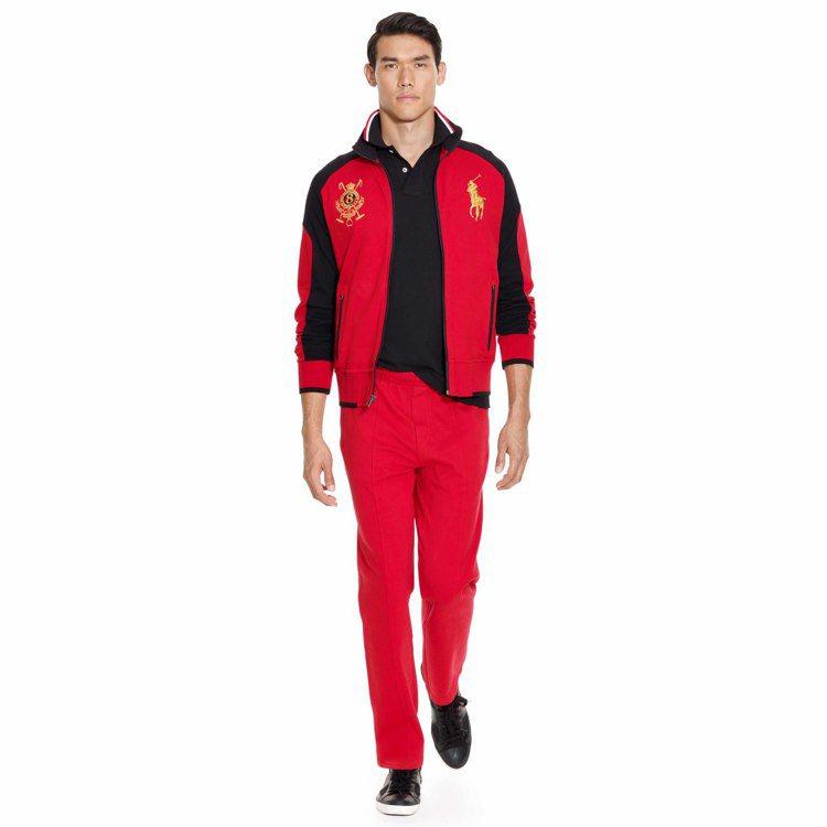 各款紅、黑、金色系的服裝,都有新春喜氣洋洋的氣氛。圖/Ralph Lauren提...