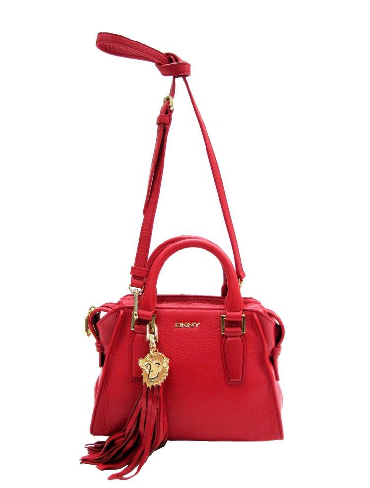 猴年紅色手提斜背包,售價11,990元。圖/DKNY提供