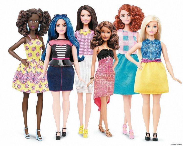 芭比娃娃膚色、眼睛、髮型分別有7到24種選擇。(路透)