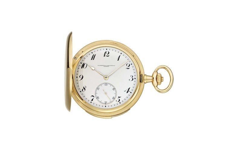 18K黃金三問懷表,大明火琺瑯面盤,獵人式表殼,1913年製。建議售價282萬元...