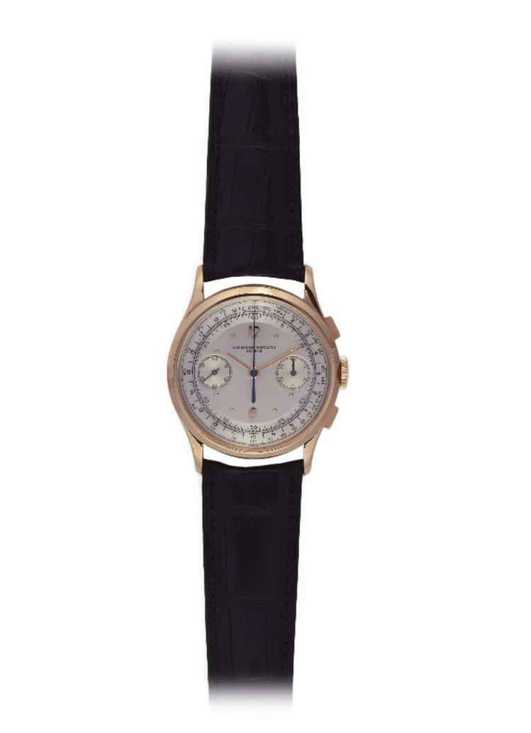 計時碼表,18K玫瑰金,建議售價194萬元。圖/江詩丹頓提供