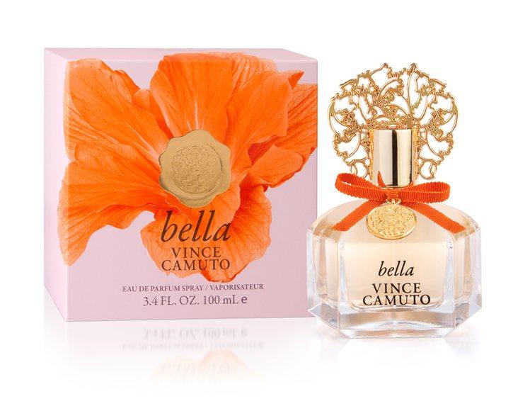 VINCE CAMUTO文斯卡穆托橙光女性淡香精,橘桃色緞帶點亮經典瓶身設計,巧...