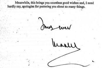 黑蜘蛛備忘中,查爾斯王子的簽名。