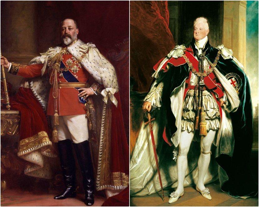 愛德華七世(左),曾是待位時間最長的英國王儲(記錄已被查爾斯打破);威廉四世(右...