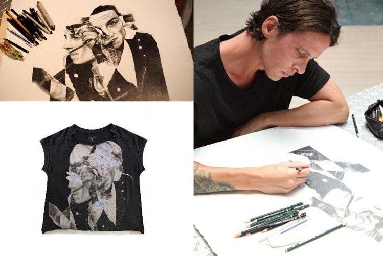 AllSaints在情人節推出台灣獨家限量T恤,男女款皆採寬鬆剪裁,由 AllS...