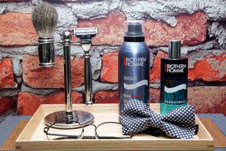 男人都知道,刮別人鬍子之前,要先把自己的刮乾淨。圖/碧兒泉提供