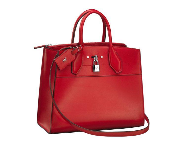 紅色CITY STEAMER Steamer手袋GM,11萬2,000元。圖/L...