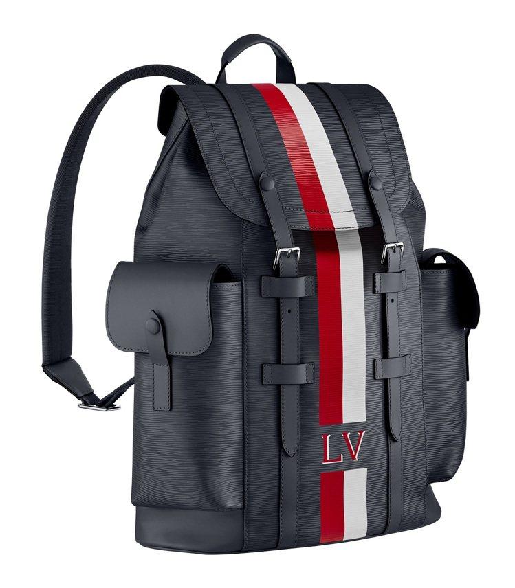 Christopher Epi條紋後背包,13萬2,000元。圖/LV提供