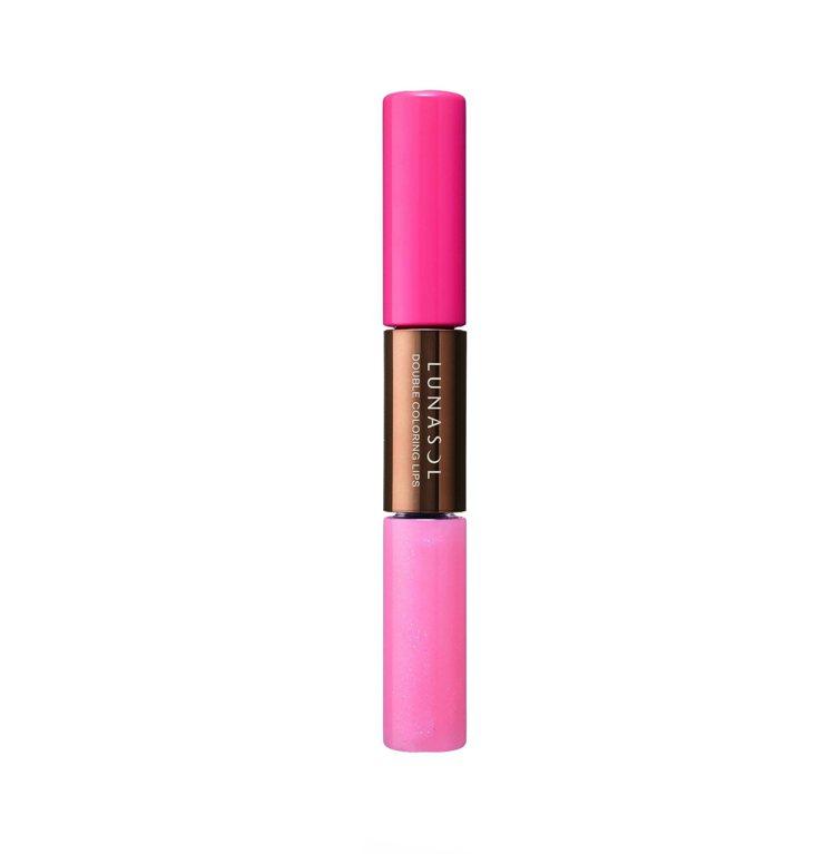 佳麗寶LUNASOL雙色透彩蜜口紅,售價1,150元。圖/佳麗寶提供