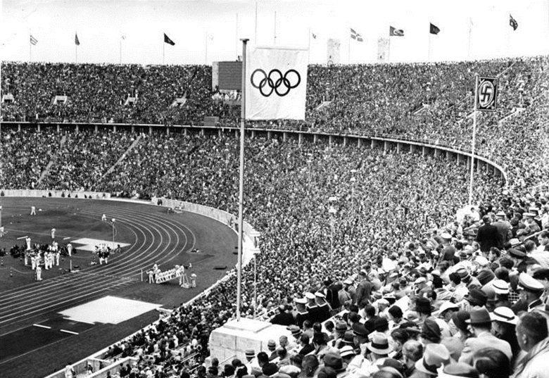 1936年希特勒主政下的柏林奧運。 圖/維基共享
