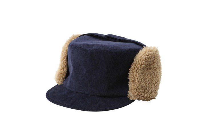 棉質內裏絨毛遮耳帽,定價1100元。圖/MUJI提供