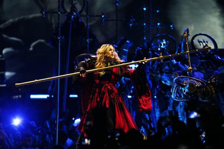 瑪丹娜台灣首場演唱會,在台北小巨蛋登場。 記者陳瑞源/攝影