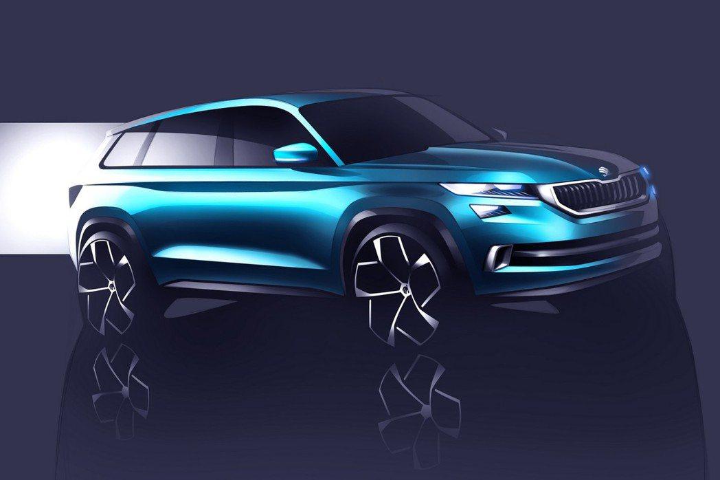 Skoda發布名為VisionS concept的概念車,龐大的身軀與之前透露的...