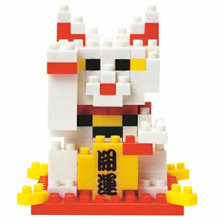積木版招財貓,售價250元、特價225元。圖/博客來提供
