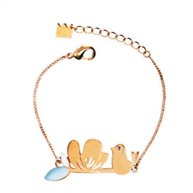 bracelet buttercup金鳳花與鳥手鍊。 圖/新蛋全球生活網