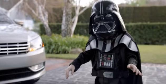 Volkswagen黑武士小孩廣告。 圖/截自影片