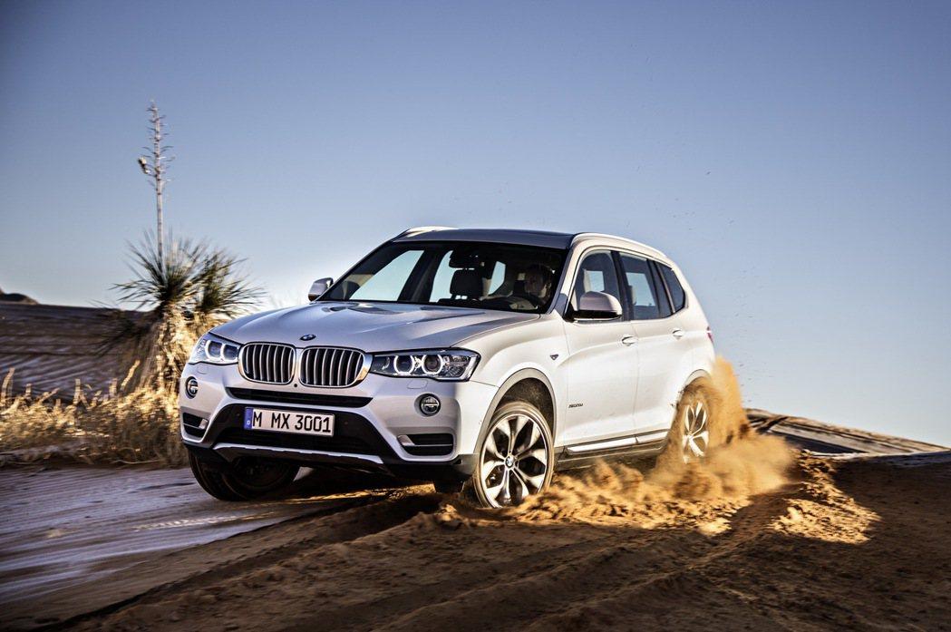 BMW X3搭載xLine風格套件。 圖/汎德提供