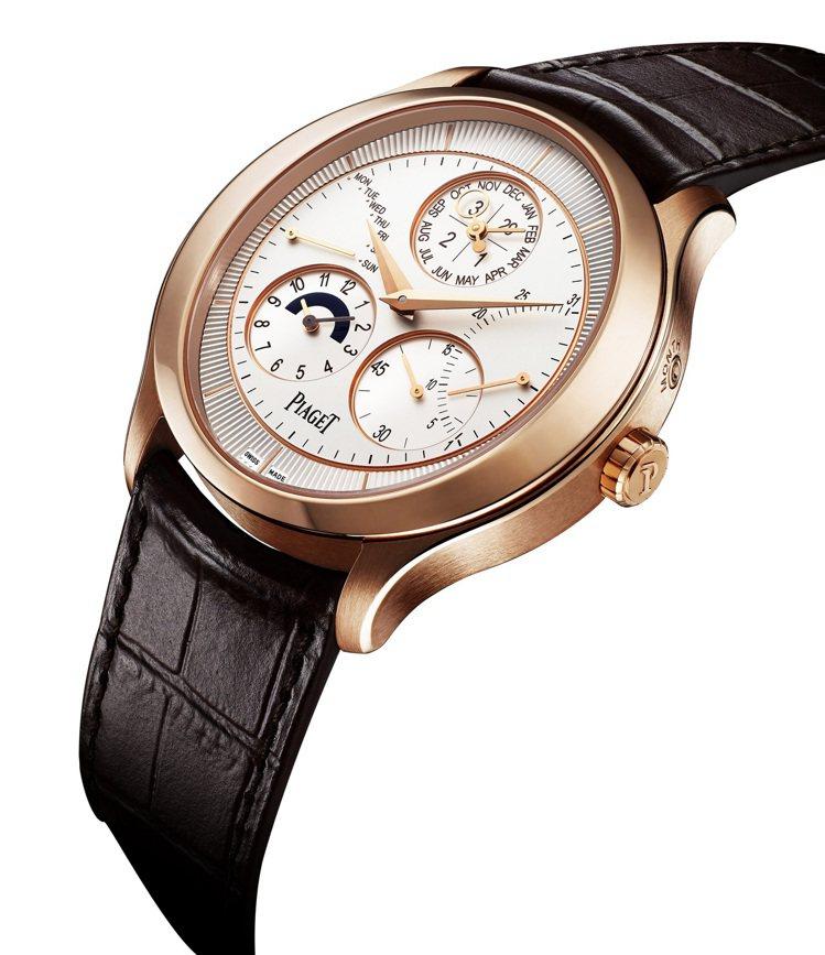 Gouverneur 萬年曆腕表,43mm 18K玫瑰金表殼,855P超薄自動上...