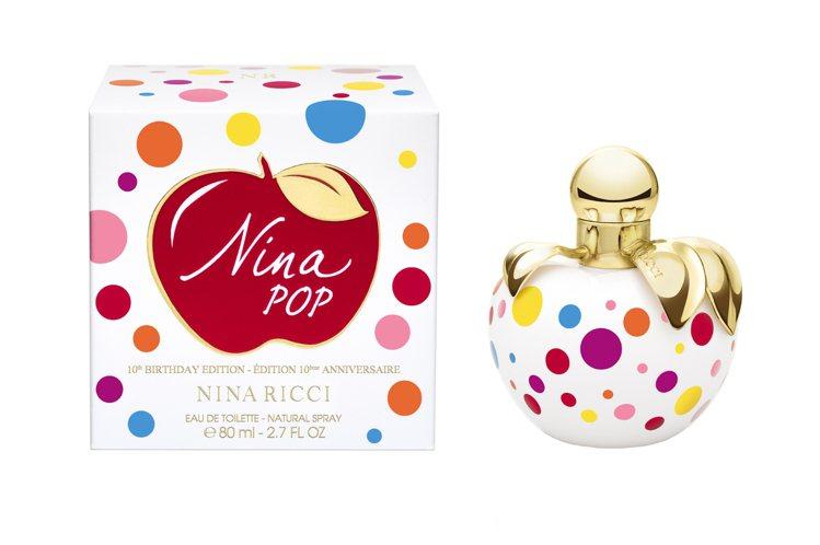 Nina Ricci慶祝蘋果系列香氛10周年慶推出圓點狀的普普藝術限量版、50m...