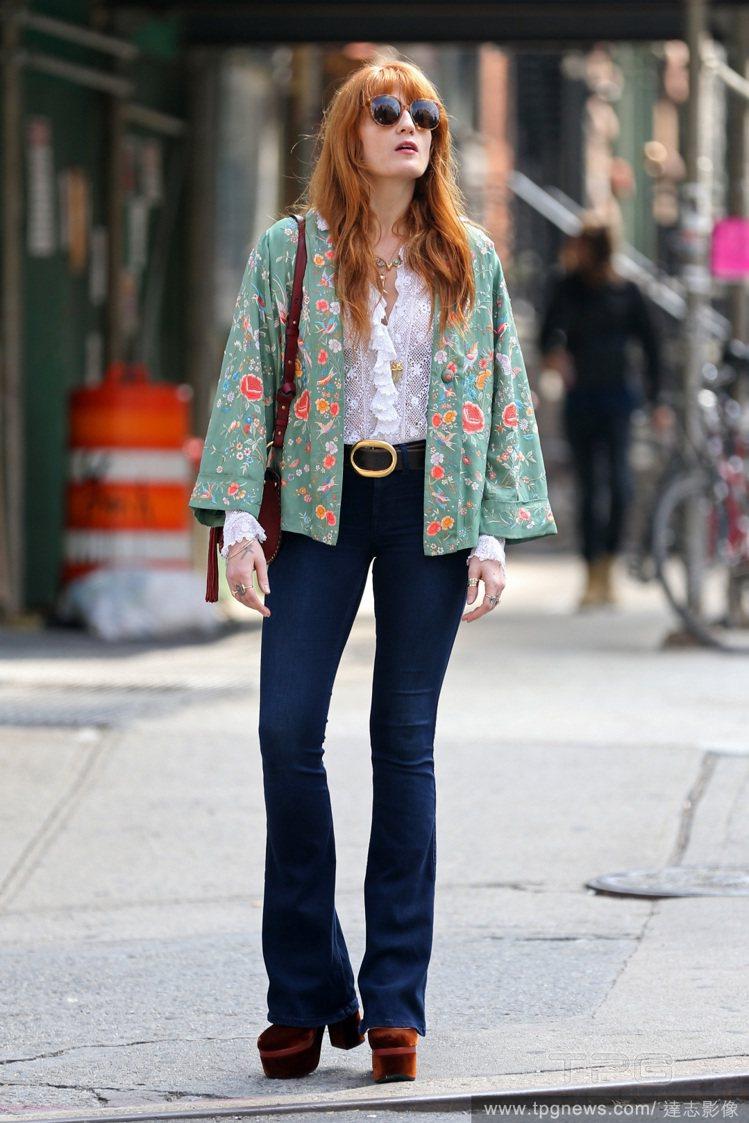 Florence Welch的風格和GUCCI很搭。圖/達志影像