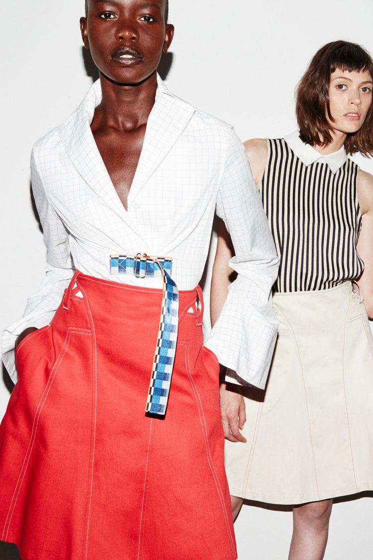 設計師Misha Nonoo最近改在社群官網發表春夏新裝,流量爆增80%。圖/擷...