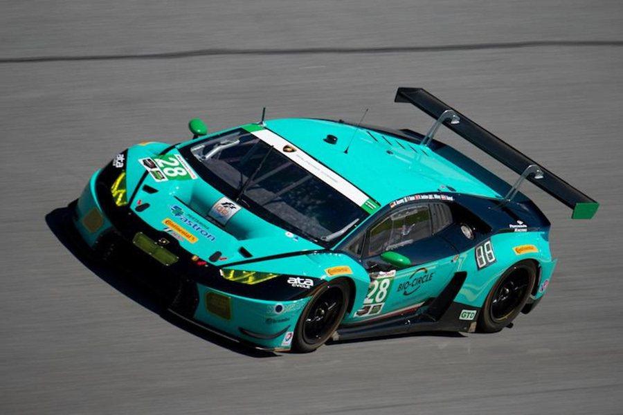 Lamborghini首度參戰Daytona 24小時耐久賽 性能戰將Huracán GT3賽車再啟輝煌篇章。 Lamborghini提供
