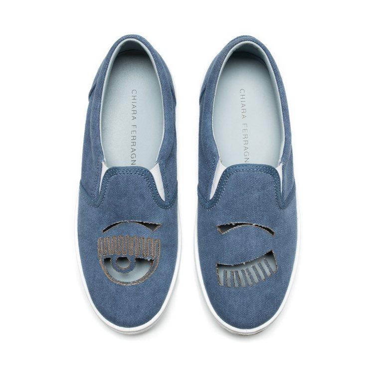 Flirting系列 牛仔單寧簍空厚底休閒鞋 $10,200。圖/Chiara ...