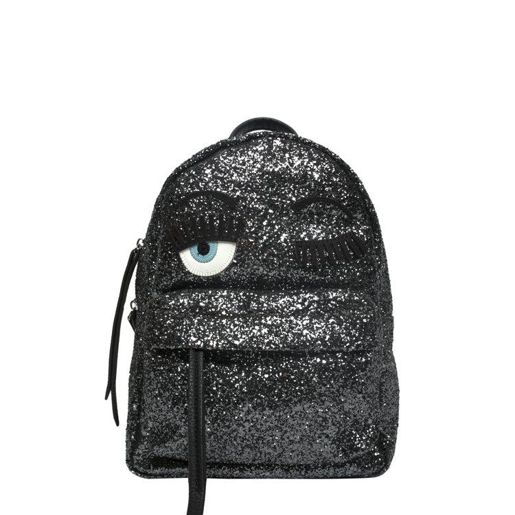 Capsule系列 黑色亮後背包。圖/Chiara Ferragni提供