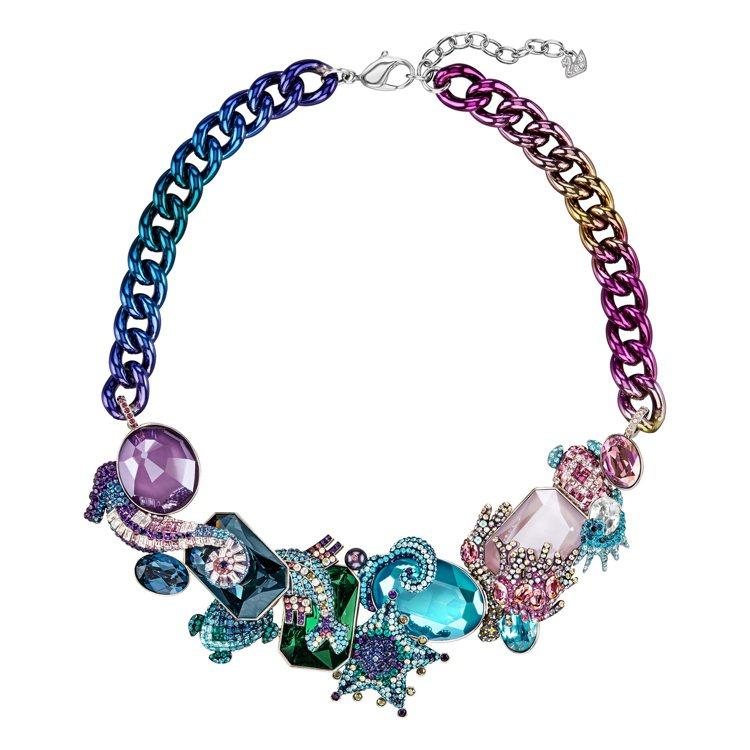 施華洛世奇春夏系列項鍊,充滿繽紛迷彩色調。圖╱施華洛世奇提供