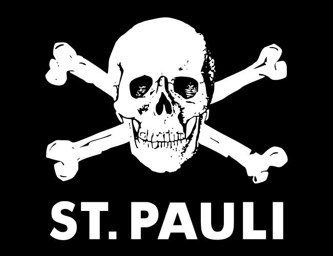 聖保利足球隊官方的隊徽雖然就是結合漢堡邦的標誌,但是球迷們卻擁抱骷髏頭的海盜旗幟...