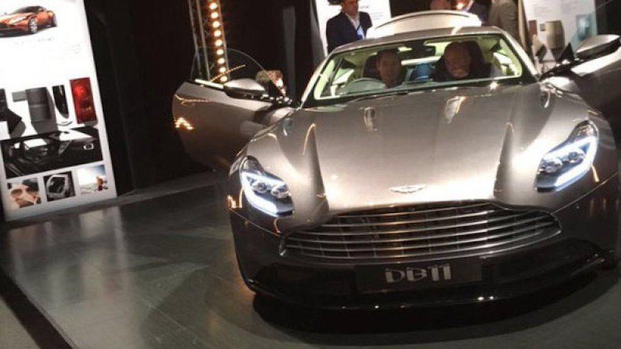 網友傳出了一張完全無偽裝的Aston Martin DB11實車照。 摘自Twitter@Rudybenjamin13