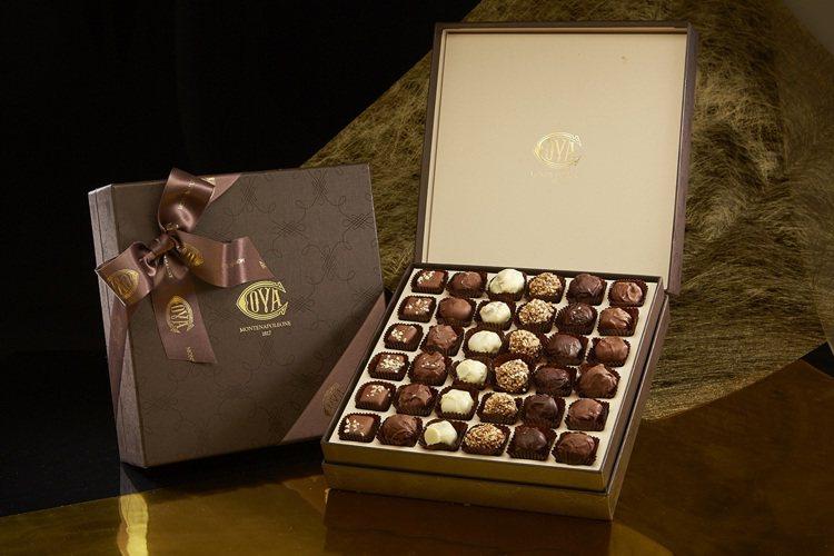 Praline 巧克力夾心糖。圖/COVA提供